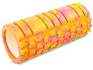 Роллер для занятий йогой и пилатесом Grid Combi Roller l-33см мультиколор (d-14,5см, l-33см, цвета в ассортименте) - Цвет Оранжевый-фиолетовый