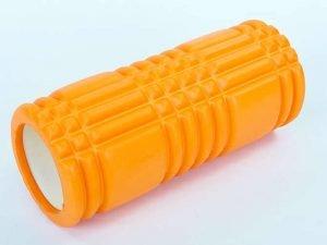 Роллер для занятий йогой и пилатесом Grid 3D Roller l-33см (d-14,5см, l-33см, цвета в ассортименте) - Цвет Оранжевый