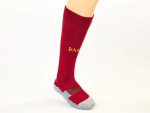 Гетры футбольные с символикой футбольного клуба BARCELONA (терилен, размер 27-34, цвета в ассортименте) - Цвет Бордовый