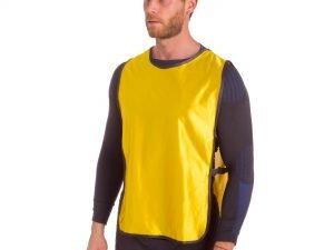 Манишка для футбола мужская с резинкой (PL, р-р XL-66х44+20см, цвета в ассортименте) - Цвет Желтый
