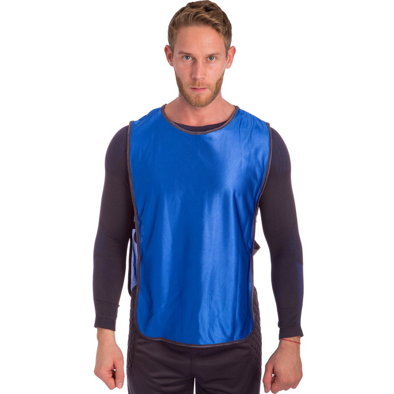 Манишка для футбола мужская с резинкой (PL, р-р XL-66х44+20см, цвета в ассортименте)