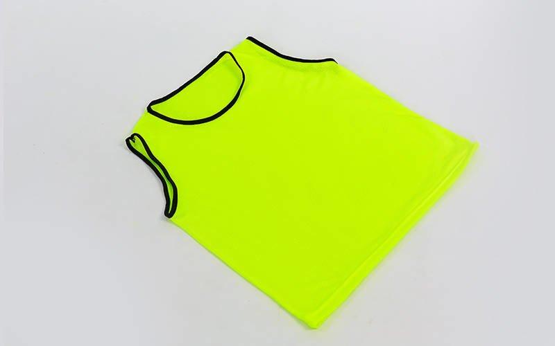 Манишка для футбола юниорская цельная (сетка) (PL, р-р M-50х57см, цвета в ассортименте)