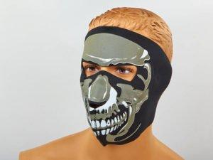 Маска лицевая ветрозащитная Chrome Skull (неопрен, черный)