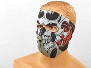 Маска лицевая ветрозащитная Tribal Skull (неопрен, черный)