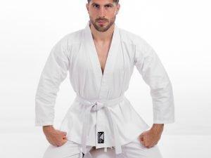 Кимоно для каратэ белое BADBOY (хлопок, полиэстер, р-р 000-6 (110-190см), плотность 240г на м2) - 1 (рост 140)