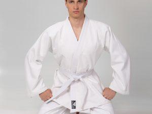 Кимоно для дзюдо белое BAD BOY (хлопок, р-р 000-6 (110-190см), плотность 450г на м2) - 1 (рост 140)
