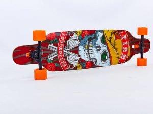Лонгборд деревянный профессиональный из канадского клена 41in фрирайд (черный-оранжевый)