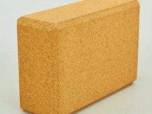 Блок для йоги пробковый (пробковое дерево, 400гр, р-р 24×16,5×9см)