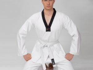 Куртка для тхэквондо (добок) MATSA (хлопок 100%-плотность 240г на м2, размер 1-6, рост-140-190см)