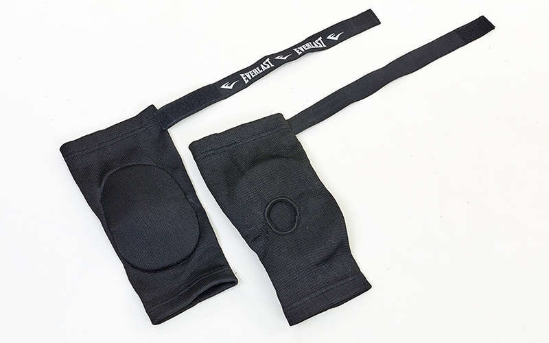 Налокотник для тайского бокса с фиксатором на липучке (2шт) ELAST (PL, р-р S-L, черный)