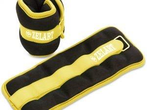 Утяжелители-манжеты для рук и ног Zelart (2 x 1кг) (нейлон,метал.шарики, цвета в ассортименте) - Цвет Желтый