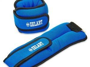 Утяжелители-манжеты для рук и ног Zelart (2 x 1,5кг) (лайкра, метал.шарики, цвета в ассортименте) - Цвет Голубой