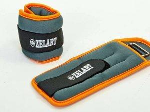 Утяжелители-манжеты для рук и ног Zelart (2 x 0,5кг) (неопрен, метал.шарики, цвета в ассортименте) - Цвет Оранжевый