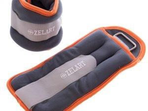 Утяжелители-манжеты для рук и ног Zelart (2 x 1кг) (неопрен, метал.шарики, цвета в ассортименте) - Цвет Оранжевый