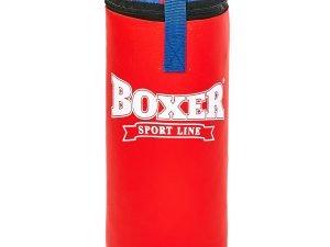 Мешок боксерский Сувенирный Кожвинил h-35см BOXER (наполнитель-древесные опилки, h-35см, d-18см, вес 5кг, цвета в ассортименте) - Цвет Красный