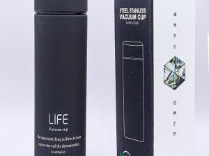 Термос стальной 450ml LIFE (сталь, цвета в ассортименте) - Цвет Черный