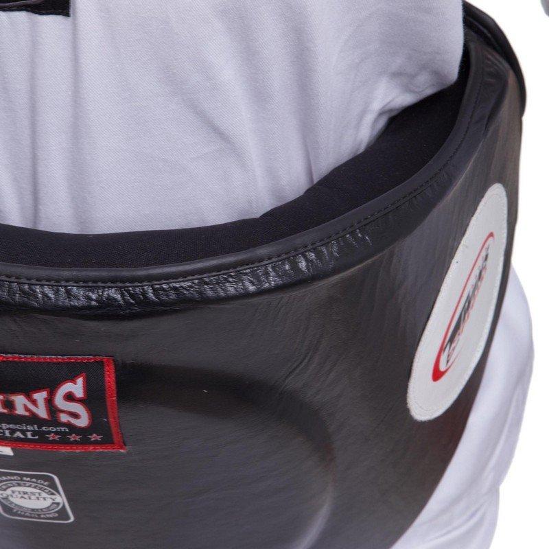 Пояс тренера кожаный TWINS (наполнитель-пенополиуретан, р-р M-XL, цвета в ассортименте)