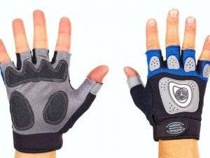 Велоперчатки текстильные SCOYCO ВG06 (открытые пальцы, р-р S-L, цвета в ассортименте) - Синий-M