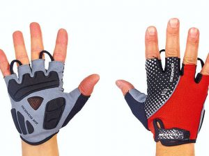 Велоперчатки текстильные SCOYCO ВG12 (открытые пальцы, р-р S-XXL, цвета в ссортименте) - Красный-XL