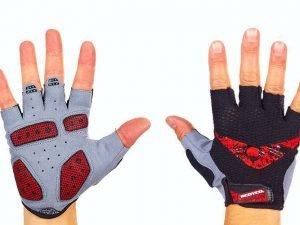 Велоперчатки текстильные SCOYCO ВG13 (открытые пальцы, р-р S-XXL, цвета в ассортименте) - Красный-L