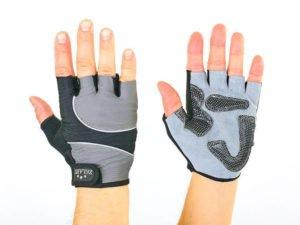 Велоперчатки текстильные Zelart (открытые пальцы, р-р S-L, цвета в ассортименте) - Серый-M