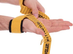Лямки (ремешки) для становой тяги (2шт) Х-б Zelart (длина-60см, ширина-4см, цвета в ассортименте) - Цвет Желтый