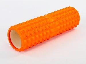 Роллер для занятий йогой и пилатесом Grid Spine Roller l-45см (d-14см, l-45см, цвета в ассортименте) - Цвет Оранжевый
