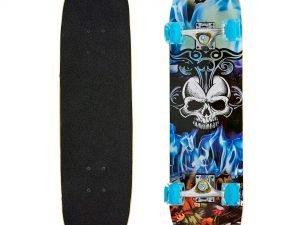 Скейтборд в сборе (роликовая доска) (колесо-PU светящ., р-р деки 78х20х1,2см, АВЕС-7, цвета в ассортименте)