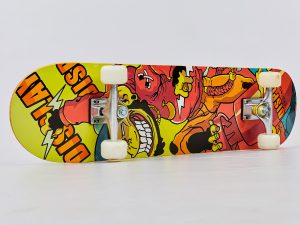Скейтборд в сборе (роликовая доска) (колесо-PU, р-р деки 78х20х1,2см, АВЕС-7, цвета в ассортименте)