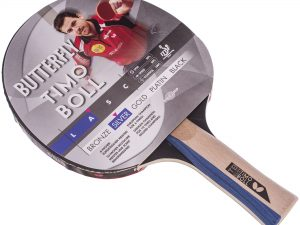 Ракетка для настольного тенниса 1 штука BUTTERFLY TIMO BOLL SILVER (древесина, резина)