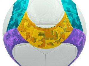 Мяч футбольный №5 PVC ламин. Клееный EURO 2020 (№5, белый) Дубл