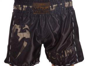 Шорты для тайского бокса и кикбоксинга VNM GIANT (полиэстер, р-р S-L, черный-камуфляж) - S (44-46)