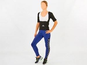 Футболка для похудения женская из композитной ткани с быстрым нагревом из серебряного волокна (M-3XL-44-54, черный) - 2XL (50-52)