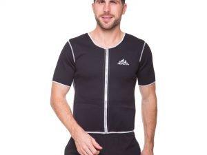 Футболка для похудения мужская из композитной ткани с быстрым нагревом из серебряного волокна (L-3XL-46-54, черный) - 2XL (50-52)