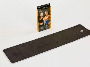 Пояс для похудения из композитной ткани с быстрым нагревом из серебряного волокна-M  (р-р 18см x 100см x 3мм, черный)