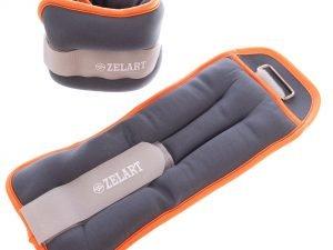 Утяжелители-манжеты для рук и ног Zelart (2 x 2кг) (неопрен, метал.шарики, цвета в ассортименте) - Цвет Оранжевый