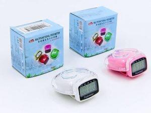 Шагомер электронный с клипсой (пластик, акрил, 3 в 1 калории, кол-во шагов, расстояние)