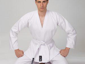 Кимоно для каратэ белое MATSA (хлопок-плотность 240г на м2, размер 000-6, рост-110-190см) - 000 (рост 110)