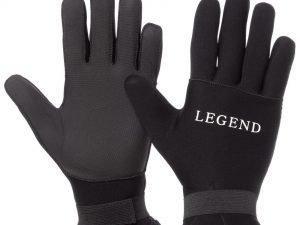 Перчатки для дайвинга LEGEND (3мм неопрен, размер M-XL-8-11, черный) - L (9-10)