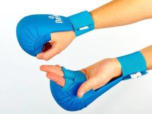 Перчатки для каратэ DADO (PU, р-р S-L, синий, манжет на резинке) - L