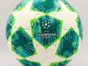 Мяч футбольный №5 LENS CHAMPIONS LEAGUE 2018-2019,08 (№5, 5 сл., сшит вручную, цвета в ассортименте) - Цвет Зеленый-белый