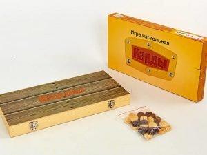 Нарды настольная игра деревянные (дерево, р-р доски 39см x 39см)