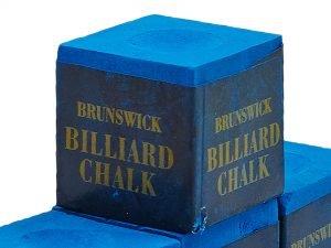 Мел для бильярда (уп. 144шт) BRUNSWICK (синий, цена за 1шт) дубл.