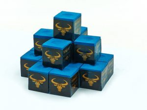 Мел для бильярда (уп. 144шт) OX HEAD (синий, цена за 1шт) дубл.