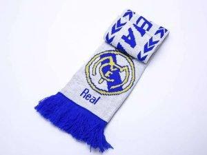 Шарф зимний для болельщиков двусторонний Real Madrid (полиэстер, р-р 1,45м x 0,15м)
