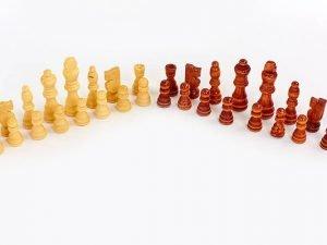 Шахматные фигуры деревянные (дерево, h пешки-3,5см)