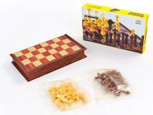 Шахматы дорожные пластиковые на магнитах (пластик, р-р доски 30см x 30см)