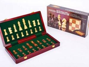 Шахматы настольная игра деревянные ZOOCEN (р-р доски 35см x 35см)