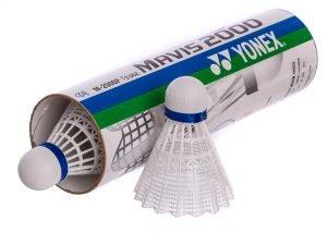 Воланы для бадминтона нейлоновые (6шт) YONEX-2000P (в тубе, цвета в ассортименте, дубл) - Цвет Белый
