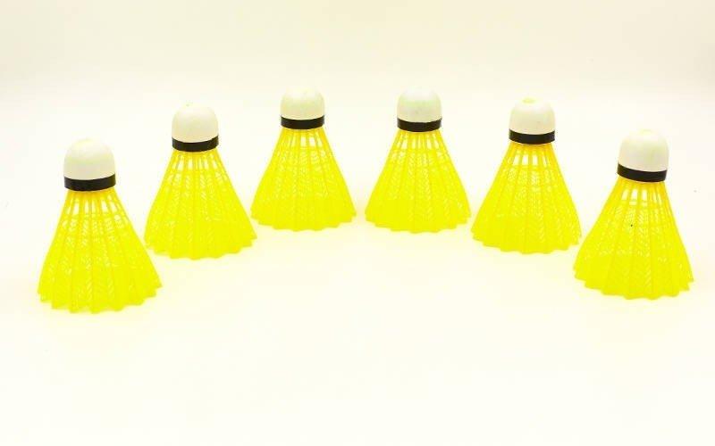 Воланы для бадминтона нейлоновые (6шт) YONEX-2000P (в тубе, цвета в ассортименте, дубл)